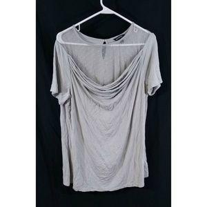 George Womens Short Sleeve Cowl Neck Shirt Sz XL